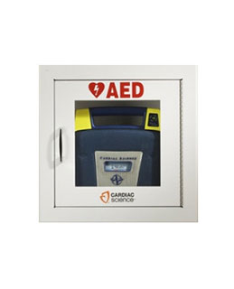 AED Wall Cabinet:Surface Mount with Alarm & Strobe, Security Enabled